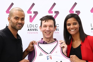 illustration Basket : LDLC.com soutient l'Asvel Féminin de Tony Parker
